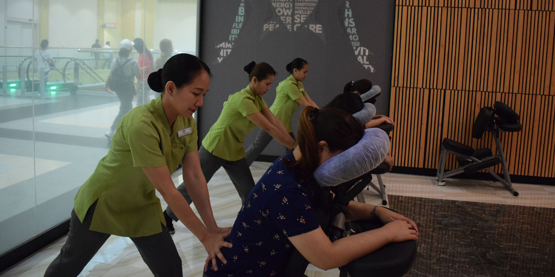 Stress Reliever Seated Massage